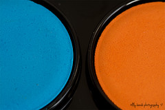 #Circles (aenee) Tags: aenee nikond7100 sigma105mm128dgmacro macromondays circles blauw blue complementarycolours complementairekleuren orange oranje paint colorbox verfdoos cirkels round rond two twee dsc3344 20180408 macro