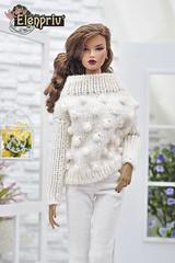 Very Soft and Tender Oversize Sweater Looks Great on Decisive ITBE Fashion Doll (elenpriv) Tags: soft tender oversize sweater decisive itbe fashion doll 16inch 16fashion fashionroyalty jason wu integrity toys handmade clothes elenpriv elena peredreeva