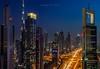 Dubai - view from 43LEVEL (go-Foto) Tags: dubai downtown night longexposure blue burj khalifa