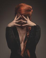 Larissa (OsKarO_) Tags: amazing shooting larissa portraits studio hands redhair plaits cleavage london photography redhead oscartornincasafotografie oscartornincasa oskaro