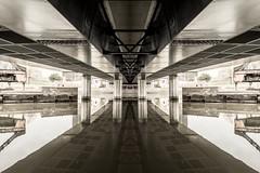 illusion sous le pont (cjuliecmoi) Tags: pont architecture urbain industriel industrial