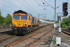 "GB Railfreight Class 66/7, 66750 ""Bristol Panel Signal Box"" (37190 ""Dalzell"") Tags: gbrf gbrailfreight hectorgroup europortelivery gm generalmotors shed bluebird class66 class667 66750 bristolpanelsignalbox northwestern wigan"