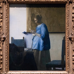 Woman Reading a Letter   Johannes Vermeer   c.1663   The Rijksmuseum-38 (Paul Dykes) Tags: rijksmuseum museumofthenetherlands art gallery museum amsterdam netherlands nl holland womanreadingaletter johannesvermeer 1663