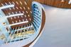 Curled roof (Maerten Prins) Tags: nederland netherlands arnhem station trainstation new hall window windows curve curves light lights lamp lamps ceiling wood reflection vanberkel unstudio