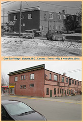 Then & Now: Oak Bay Village 1973 & 2018 (photo no.3) (Brit 70013 fan) Tags: oakbay oakbayavenue hampshireroad hampshire victoria britishcolumbia canada scotiabank bankofnovascotia road retail shops apartment toyota corolla ford cortina jackburgess oakbayvillage