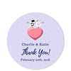 Love Birds Grey Thank You Sticker (Set of 25 pcs) (Gift Elements) Tags: gifttags wedding stickers weddingtags weddinggifttags weddingstickers thankyou love heart lovebirds grey purple giftwrapping favour favor favorsticker weddingparty creative customise customize personalise giftelements
