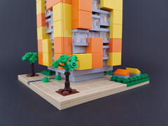 Citrus Block MOC ground (betweenbrickwalls) Tags: lego afol block apartments architecture microscale yellow orange legophotography architecturephotography building geometry geometric
