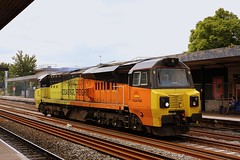 No traffic today (Chris Baines) Tags: colas light engine oxford working from westbury bescot 70804