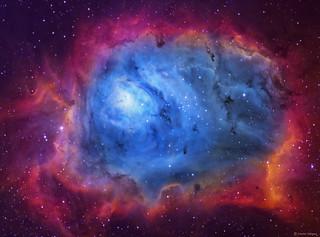 The Lagoon Nebula (M8) imaged in SHO