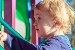 Woz up 'ere den? (obLiterated) Tags: charli park runcorn toddler playing havingfun
