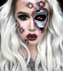 Lady Terminator! By @itsrachaelv (ineedhalloweenideas) Tags: halloween makeup make up ideas for 2017 happy night before christmas october 31 autumn fall spooky body paint art creepy scary horror pumpkin boo artist goth gothic amazing awesome