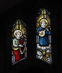 Musician angels (badger_beard) Tags: st saint mary virgin church linton cambridgeshire cambs cambridge haverhill south