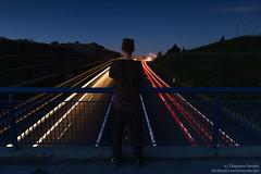 Time (z.dorighi) Tags: droga długaekspozycja światła long exposure night evening time goes traffic race rat way flow man human stand alone lights highway
