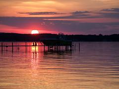 Watching the Sunset (mjhedge) Tags: silhouette traversecity grandtraversebay water sunset puremichigan michigan olympus oly getolympus em1mkiiomdem1markii omdem1mkii omd 12100mmf4 12100mm 12100