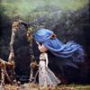 The gate's warning (pure_embers) Tags: pure laura embers blythe doll dolls custom photography uk england girl pureembers freddy tan freddytan blue alpaca hair fantasy cheska emberscheska thegate hairflying windy