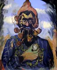 'The Cripple' by Rene Magritte (Greatest Paka Photography) Tags: thecripple art artist renemagritte surrealism belgian sfmoma portrait clown wwii parody museumofmodernart pipe witty tragicomic symbol color