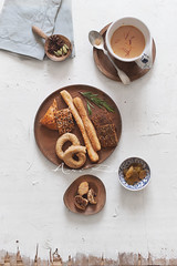 tea time (asri.) Tags: 2018 teatime topview onwhite foodphotography foodstyling 50mmf14