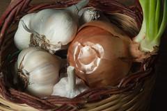 Dsc_3495 Agli e Cipolla (bartric - Bartolomeo) Tags: nikond70 bartolomeo stillife aglio cipolla colors texture