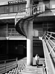 Concrete spiral (Thrift) Tags: preston buildings city shadows steps concrete monochrome spiral