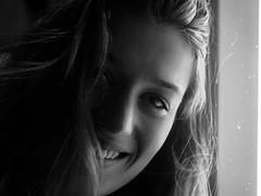 Ilanka-portrait (glennlbphotography) Tags: blackandwhite brest bretagne bretonne cute face france française french girl happy naturallight noiretblanc portrait smile visage