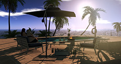 Style1857 - N4RS - The Arcade (Kayshla Aristocrat) Tags: n4rs thearcade whatnext madpea keke homeandgarden outdoorliving gacha glitzz home homedecoration garden gachacollection pool poolside floats palm caribbean latina summer outdoorfurniture