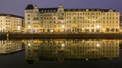 Reflection on Spree River in Berlin Mitte (HansPermana) Tags: berlin germany deutschland eu europa europe eastgermany spree river flus longexposure reflection lights architecture bluehour