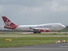 G-VROS Boeing 747 Virgin Atlantic Airways Ltd (Aircaft @ Gloucestershire Airport By James) Tags: manchester airport gvros boeing 747 virgin atlantic airways ltd egcc james lloyds