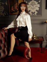 i83 (alannah.myles66) Tags: satin foulard soie blouse chemisier femme silk seide sexy