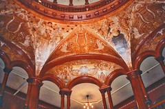St Augustine  Florida - Ponce de Leon Hotel - Flagler College -  Lobby Area (Onasill ~ Bill Badzo) Tags: florida fl st augustine historic city historical ponce de leon hotel flagler college interior dome mural standard oil henry founder architecture style spanish renaissance carriere hasting architects concrete electricity onasill spanishquarters dc thomas edison adaptive reuse restored johnscounty saint landmark old vintage photo quarters nrhp wood