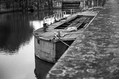 Canal de la Martinière (samuelparois) Tags: canon a1 ilford delta delta100 rodinal black white noir blanc film 35mm analog argentique