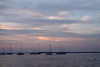 Clouds painted by last light (danielhast) Tags: madison wisconsin sky clouds sunset lakemendota lake mendota water boat sailboat