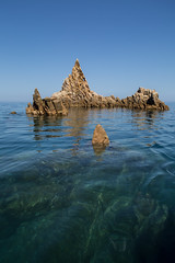 Piana - Corsica (Michel Couprie) Tags: europe france corse corsica piana calanques sea mer seascape fish rock rocks rocher water transparency sky blue landscape paysage canon tse24mmf35l eos couprie composition purity