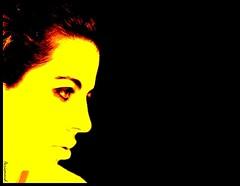 Yellow EgO (Aerismaud) Tags: portrait me face yellow photoshop jaune ego yo cara autoretrato pop amarillo aerismaud