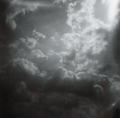 (akwalker) Tags: summer toronto canada beach clouds mediumformat blackwhite holga july squareformat lakeontario cherrybeach approachingstorm publicbeach