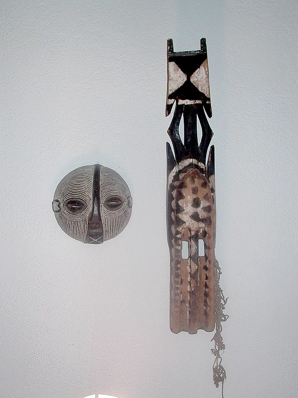 African Masks (Dogon and Ba Songe Zaire-round face)