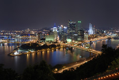 Pittsburgh_at_Night (KoehlerColor) Tags: city longexposure bridge night nikon pittsburgh pennsylvania bridges explore d200 nikond200 capturenx nikoncapturenx