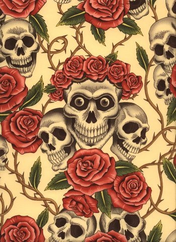 "Alexander Henry ""Rose Tattoo"" fabric"