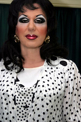 Polka Dot Dress (Christine Fantasy) Tags: feminine makeup christine fantasy transvestite elegant crossdresser transsexual shemale