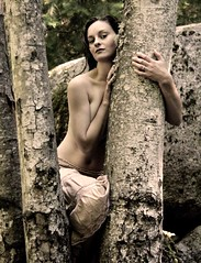 (ladder_711) Tags: trees portrait woman nature beauty sepia sensual ellie