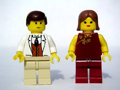 Jake Barnes and Lady Brett Ashley (Dunechaser) Tags: fiction lego books literature characters minifig minifigs  brettashley ernesthemingway   thesunalsorises jakebarnes