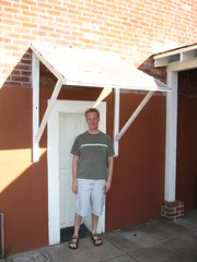 Me standing in front of a doorway of the Whaley House (slworking2) Tags: house selfportrait me san sandiego diego haunted sp whaleyhouse whaley