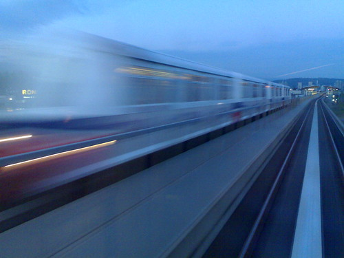 Blurry SkyTrain Near Renfrew Station