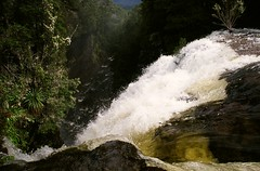 hartnett falls, cradle mountain national park, tasmania (GraemeNicol) Tags: river waterfall bush whitewater australia falls bushwalking tasmania gorge mersey hartnett lakestclair cradlemountain bushland overlandtrack spate longdistancetrail