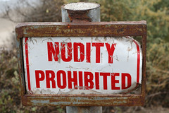 Nudity Prohibited (wanderingnome) Tags: california canon santabarbaracounty 50mmlens ©wanderingnomez rinconbeachpark ef50mmf25lens