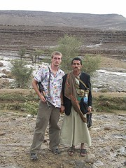a vicious deadly yemeni tribesman, and a guy in a dress (swazjamma) Tags: alyemen