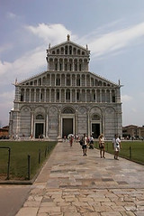 The Romanesque cathedral in the Campo del Miracoli