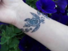 turtle tattoo (vagabondastrologer / tricia) Tags: tattoo turtle wristband