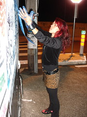 Day 2 @ Mary Street (Glenda GlitaGrrl) Tags: streetart stencils art girl graffiti sydney adventure belly newtown glenda glendapontes