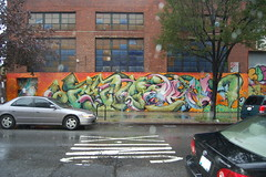 green worm (lowlight168) Tags: slr wet rain brooklyn d50 bedford graffiti interesting nikon ave lowlight168