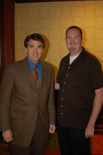 Blundell and Gov. Rick Perry